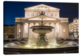 Lienzo  Fountain and Bolshoi Theatre