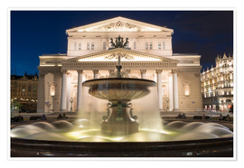 Póster  Fountain and Bolshoi Theatre