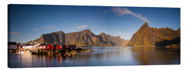 Lienzo  Panorama fishing village Hamnoy, Lofoten, Norway - Circumnavigation