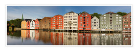 Póster  Panorama old storehouses, Trondheim, Norway - Circumnavigation