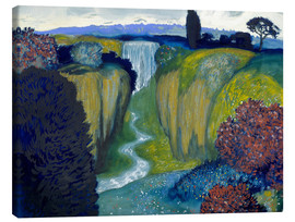 Lienzo  Landscape with Waterfall - Franz von Stuck