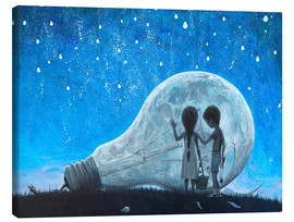 Lienzo  The night we broke the Moon - Adrian Borda