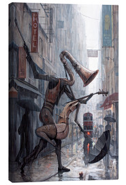 Lienzo  Life is a dance in the rain - Adrian Borda