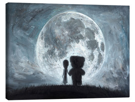 Lienzo  In my dreams you always bring me to the Moon - Adrian Borda