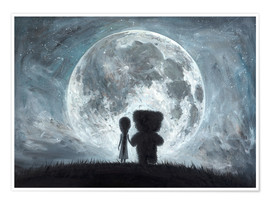 Póster  In my dreams you always bring me to the Moon - Adrian Borda