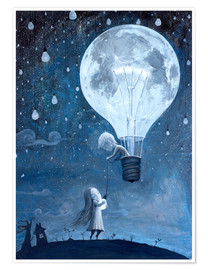 Póster  He gave me the brightest star - Adrian Borda