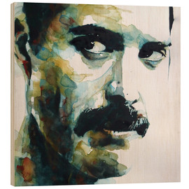 Cuadro de madera  Freddie Mercury - Paul Lovering Arts