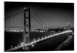 Cuadro de metacrilato  Evening Cityscape of Golden Gate Bridge - Melanie Viola