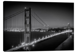 Lienzo  Evening Cityscape of Golden Gate Bridge - Melanie Viola