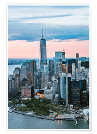 Póster  Aerial view of World Trade Center and lower Manhattan, New York, USA - Matteo Colombo