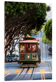 Cuadro de metacrilato  Cable tram in a street of San Francisco, California, USA - Matteo Colombo