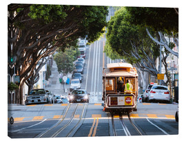 Lienzo  Cable tram in a street of San Francisco, California, USA - Matteo Colombo
