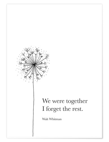 Póster We were together
