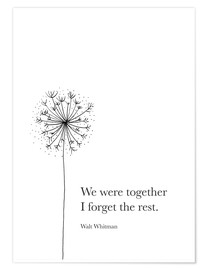 Póster  We were together - RNDMS