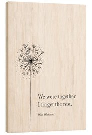 Cuadro de madera  We were together - RNDMS