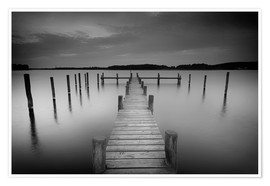 Póster  Old wooden pier in the still waters - Filtergrafia