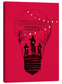 Lienzo  Ilustración en rojo de stranger things - Golden Planet Prints