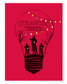 Póster Stranger Things, rojo