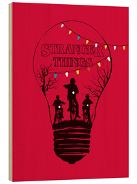 Golden Planet Prints - Ilustración en rojo de stranger things