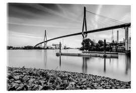Metacrilato  Hamburg | Köhlbrand bridge (black & white) - Kristian Goretzki
