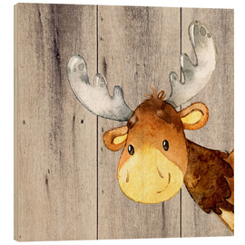 Madera  4 Friends - Forest Animals - Moose - UtArt