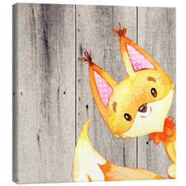 Lienzo  4 Friends- Forest Animals- Fox - UtArt
