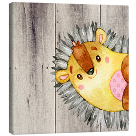 Lienzo  4 Friends  Forest animals- Hedgehog - UtArt
