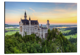 Cuadro de aluminio  Neuschwanstein Castle at sunrise in summer - Michael Valjak