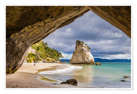 Póster Cathedral Cove