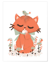 Póster Animal friends - The cat