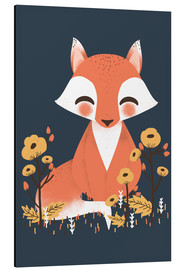 Aluminio-Dibond  Animal friends - The fox - Kanzi Lue