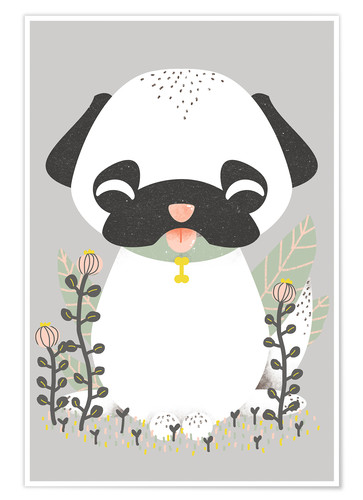 Póster Animal friends - The pug