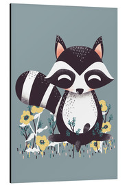 Aluminio-Dibond  Animal friends - The raccoon - Kanzi Lue