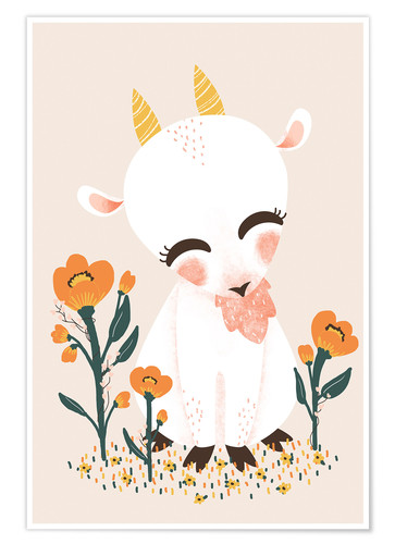 Póster Animal friends - The goat