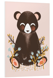 Cuadro de PVC  Animal friends - The bear pink - Kanzilue