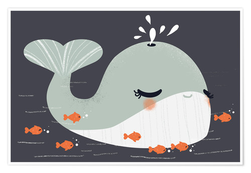 Póster Animal friends - The whale