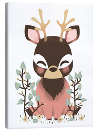 Lienzo  Animal friends - The deer - Kanzi Lue