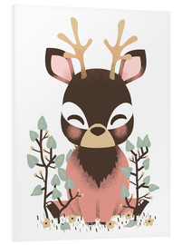 Cuadro de PVC  Animal friends - The deer - Kanzi Lue
