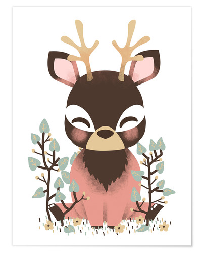 Póster Animal friends - The deer