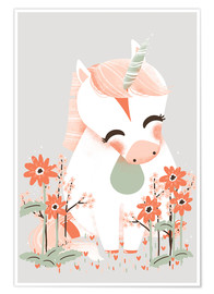 Póster Animal friends - The unicorn