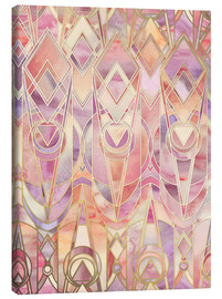 Lienzo  Glowing Coral and Amethyst Art Deco Pattern - Micklyn Le Feuvre