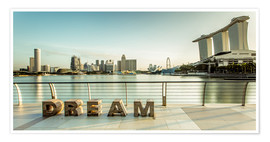 Póster  Dream Singapore - Sebastian Rost