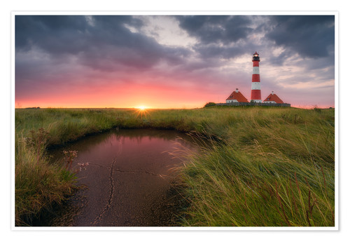Póster Terp Inferno (Westerhever Lighthouse)