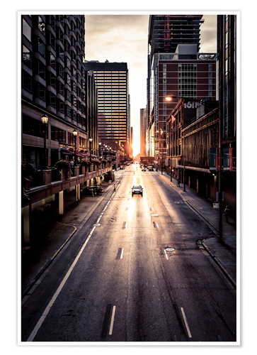 Póster Morning in Chicago