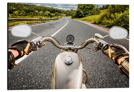 On tour with a vintage motorbike