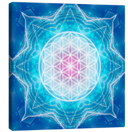 Lienzo  Flower of Life - Multidimensionality - Dolphins DreamDesign