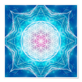 Póster  Flower of Life - Multidimensionality - Dolphins DreamDesign