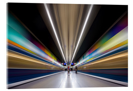 Cuadro de metacrilato  Color explosion subway Munich - MUXPIX