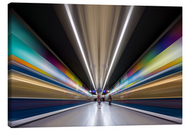 Lienzo  Color explosion subway Munich - MUXPIX