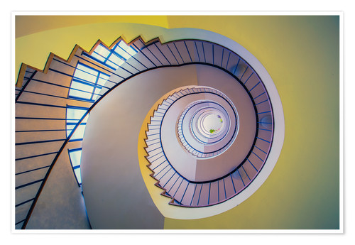 Póster Staircase in crayon